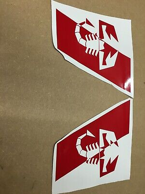 Abarth 500 595 Red Vinyl Wing Stripe Decal Stickers Scorpion Stripes