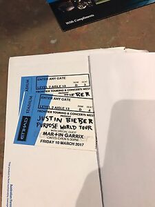 Justin Bieber Melbourne tickets Narre Warren South Casey Area Preview