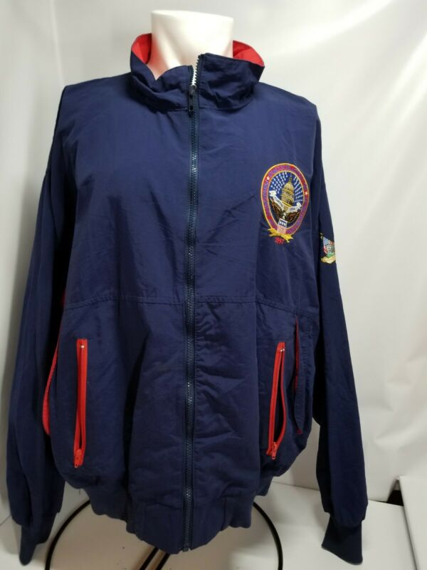 Presidential Inauguration Vintage Jacket Bill Clinton Gore XL coat windbreaker