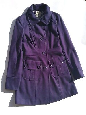 Purple Winter Coat - Tulle Nordstrom Double Breasted Wool Blend Purple Winter Coat Size Large