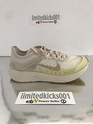 BNIB NIKE ZOOM FLY SP CREAM GOLD WHITE GYM WOMENS RUNNING TRAINERS SHOES SZ 9