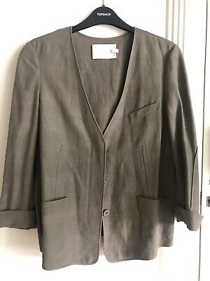 ALEXANDER WANG WHITE T Women's Grey Blazer Jacket Size 4 UK 8