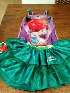 Little mermaid and rapunzel girls costume