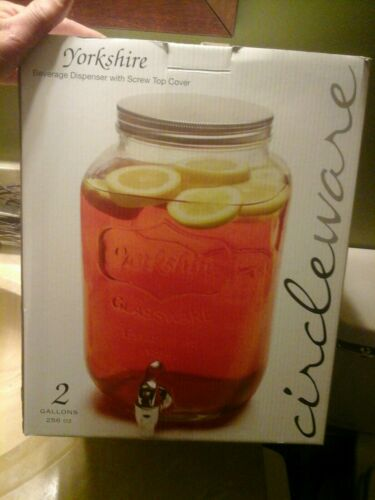 NEW Circleware Yorkshire 2-Gallon Beverage Dispenser With Sc