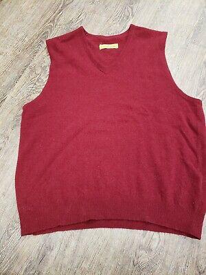 Authentic VINTAGE Men Dark Red 1970s Sweater Vest XL