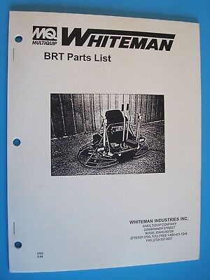 Mq Whiteman Ride-on Power Trowel Brt Parts List 595