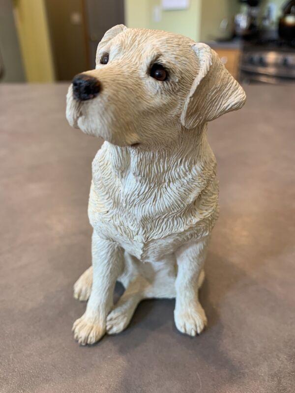 Sandicast Yellow Labrador Retriever Figurine Sitting Dog Puppy