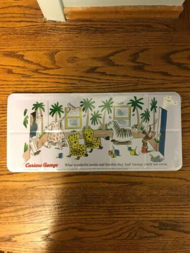 BNIB Curious George Watercolor 36 Multicolor Paint Set Tin Case