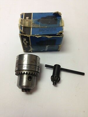 Rohm 132 - 12 Capacity Drill Chuck 12-20 Mount R3-12 Made In West Germany