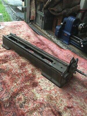 Vintage 109 Dunlap Craftsman 6 Metal Lathe Bed Assembly Banjo Rev. Lead Screw