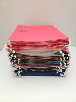 Lot Of 120 Hanging File Folders Assorted Brands And Colors