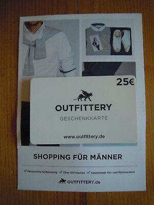 Gutschein 25 € Outfittery - Shopping für Männer * für Neukunden *