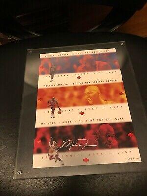 1997 - 1998 Upper Deck Michael Jordan UNCUT SHEET Japan Ruby Commemorative Auto