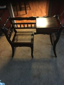 Antique telephone desk