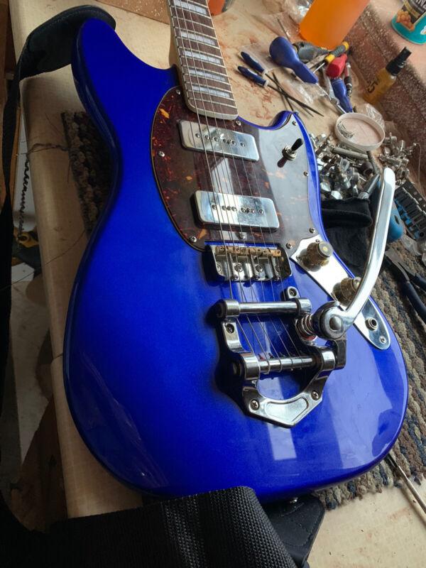 'Overhaul' Mustang Electric Guitar. Bigsby and Big 70s Headstock.