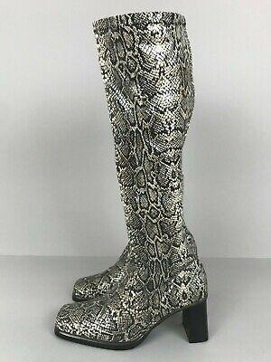 PICINOTTI Schlangenleder Kunstleder Stiefel Artificial Snake Leather Boots 35,5  Snake Boots