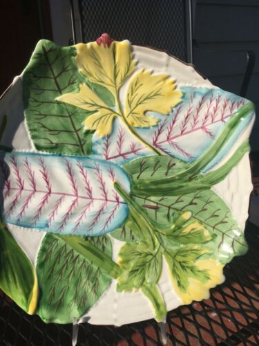 MOTTAHEDEH BANANA LEAF PLATE -  STATELY HOMES COLLECTION