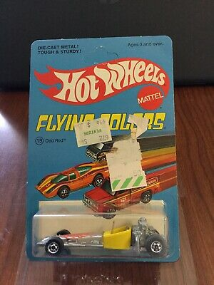 Hot Wheels Odd Rod Blackwall.  Yellow In Blue Flying Colors Unpunched BP.