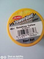 Neu! 4 Forellenteig Berkley Trout Bait F:Sunshine-Yellow I:50g Baden-Württemberg - Kirchheim unter Teck Vorschau