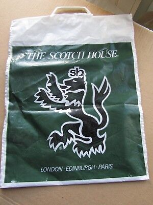 Vintage Used 1980s The Scotch House Plastic Carrier Bag