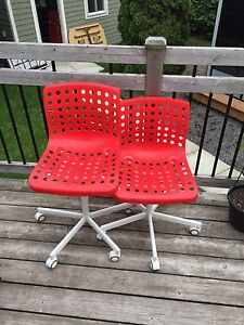 Lot de 2 chaises rouge Skalberg
