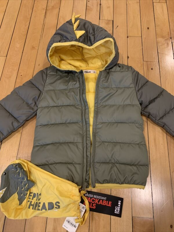 NWT Toddler Boy's Packable Pals Jacket Epic Threads 4T