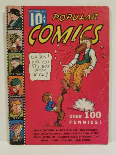 Popular Comics # 10, Platinum Age Dell! HTF! (Dell 1936)