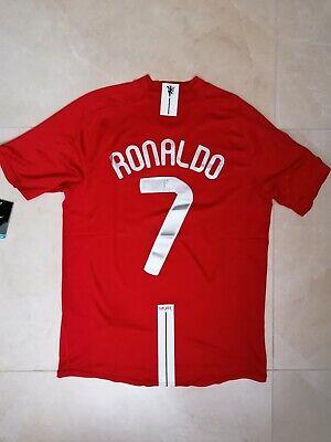 MAGLIA MANCHESTER UNITED RONALDO 7 FINALE CHAMPIONS MOSCA 2008 RETRO PATCH