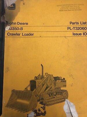 John Deere Jd350-b Parts List Manual