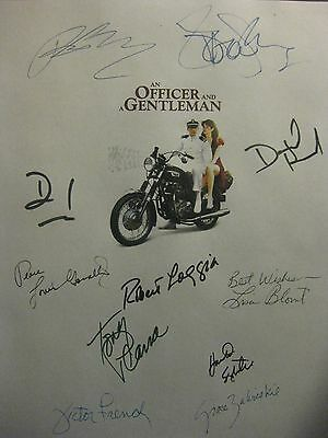 An Officer and a Gentleman Signed Film Script X11 Richard Gere Debra Winger rpnt
