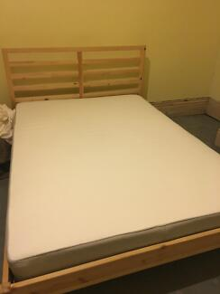 IKEA Double Bed and Frame in Perfect Condition, 1 Year Old