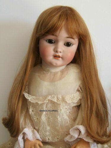 """perruque blond vénitien Jumeau®T29cm-poupée ancienne moderne-doll wig sz11.5"""""""