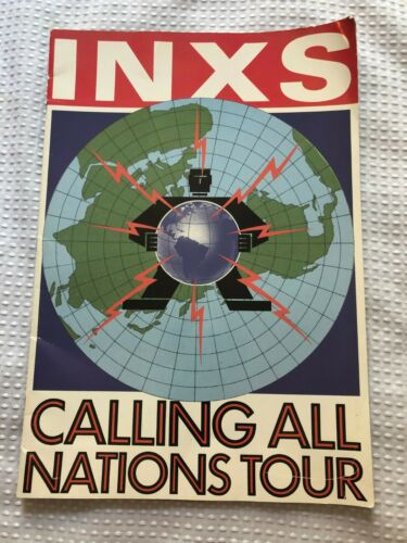 INXS MICHAEL HUTCHENCE  CALLING ALL NATIONS TOUR CONCERT PROGRAM 1988