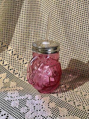 New Toucan Hot Pink Drinking Glass Mason Jar Cup Straw Sipper Jar Picnic Bird ()