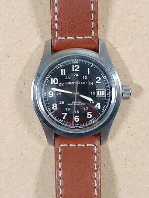 Hamilton Khaki Field Men's Black Watch with Brown Leather Band - H70455533