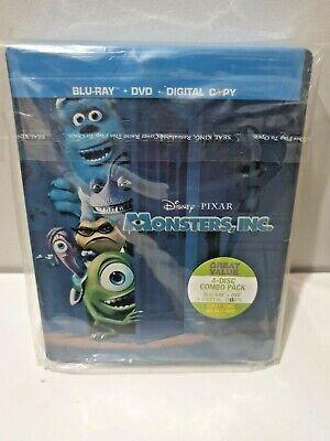 Disney Pixar's Monsters Inc Blu-Ray+Dvd Best Buy Exclusive Steelbook New &Sealed
