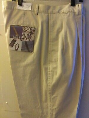 "NWT ~ Nautica ""Diamant Bru""t ~ New Stone ~ Pleated Khaki Pants ~ Size 40 x 34"