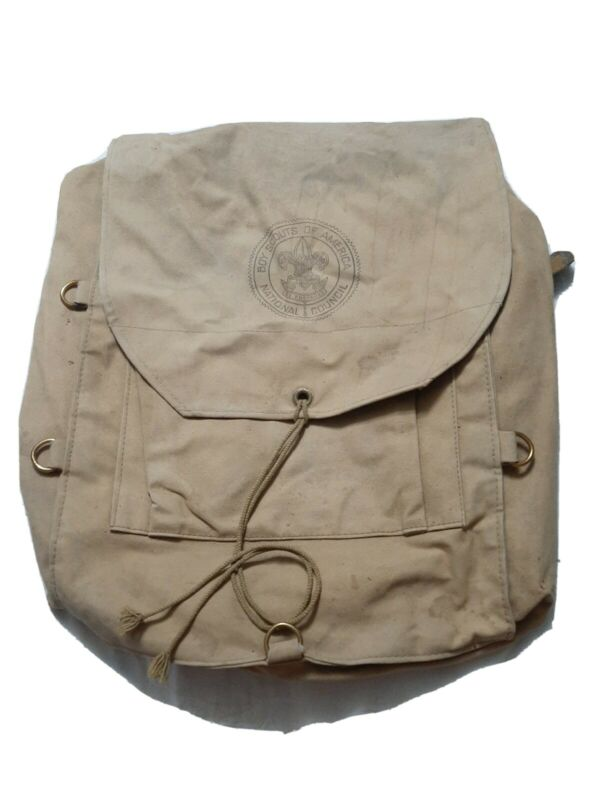 Vintage Canvas Boy Scouts 573 Haversack Hiking Backpack