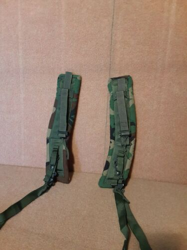 US Military Padded ALICE Shoulder Strap Set Woodland Quick Release - Second Hand
