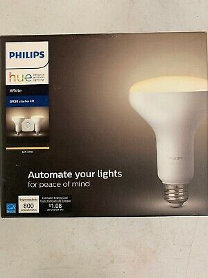 Philips Hue White BR30 LED 65W Equivalent Dimmable Wireless Smart Kit, 800 Lumen