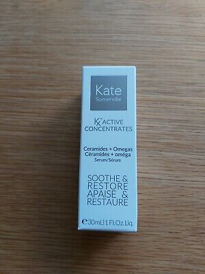 New Kate Somerville Kx Active Concentrates Ceramides+Omegas 30ml Soothe, Restore
