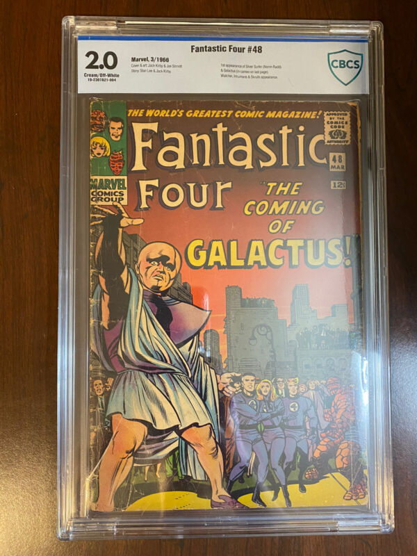 Fantastic Four 48 CBCS 2.0 First Silver Surfer Galactus  Kirby Lee 1966