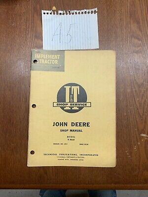 It John Deere R Diesel Tractor Shop Service Manual Jd-3