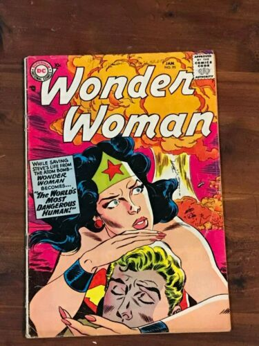 Wonder Woman #95 DC Comics 1958 Atom Bomb cover SCARCE