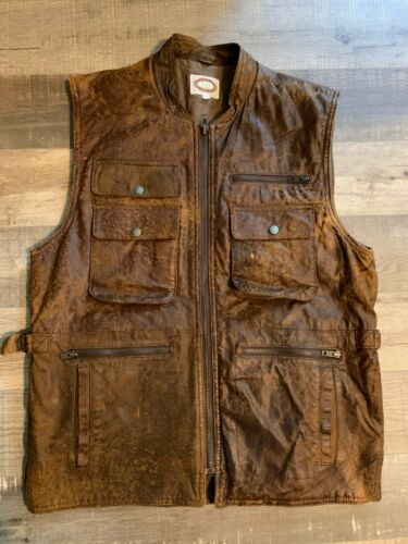 Vintage Banana Republic Leather Vest SIZE MEDIUM