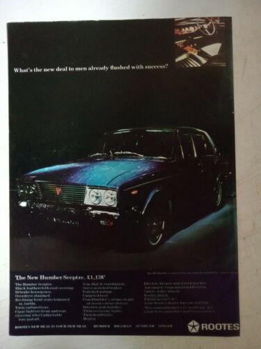 1968 HUMBER SCEPTRE BRITISH MAGAZINE FULLPAGE COLOUR ADVERTISEMENT