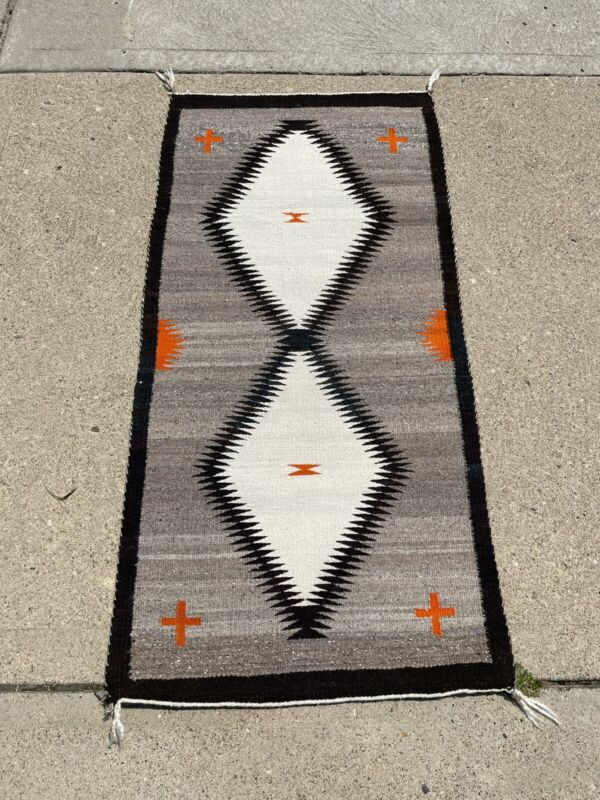 Authentic Navajo Rug Fred Harvey Tag