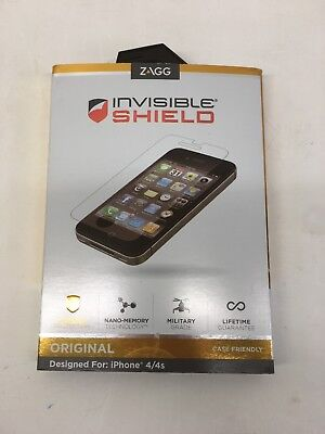 ZAGG invisibleSHIELD Original iPhone 4 + 4S Military Grade Screen Protector 3PK for sale  Shipping to India