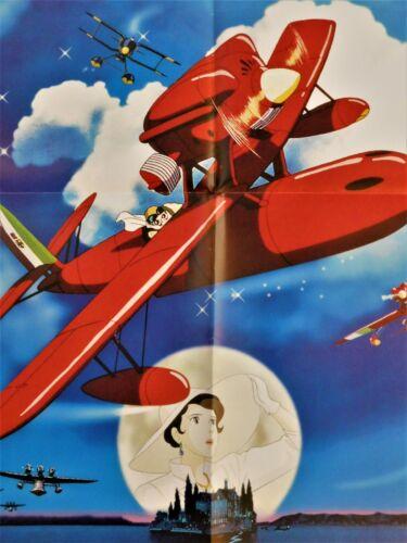 "Porco Rosso *French Movie Poster Original 23""31"" *1992 Miyazaki Ghibli"