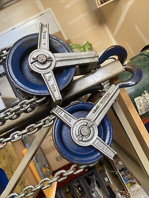 Vintage Tmc Differential Block 12 Ton Manual Double Chain Fall Hoist F9